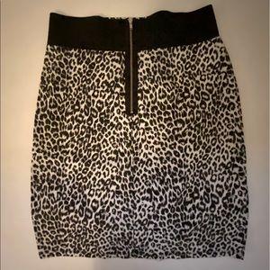 Cute leopard print skirt girls large